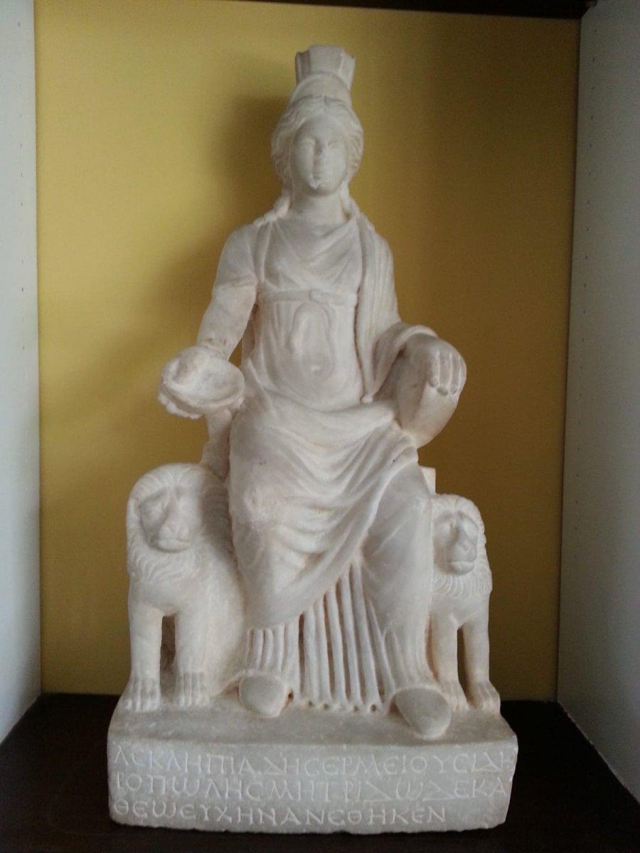 Bin 700 yıllık Kybele heykeli 60 yıl sonra Türkiye ye getirildi #1