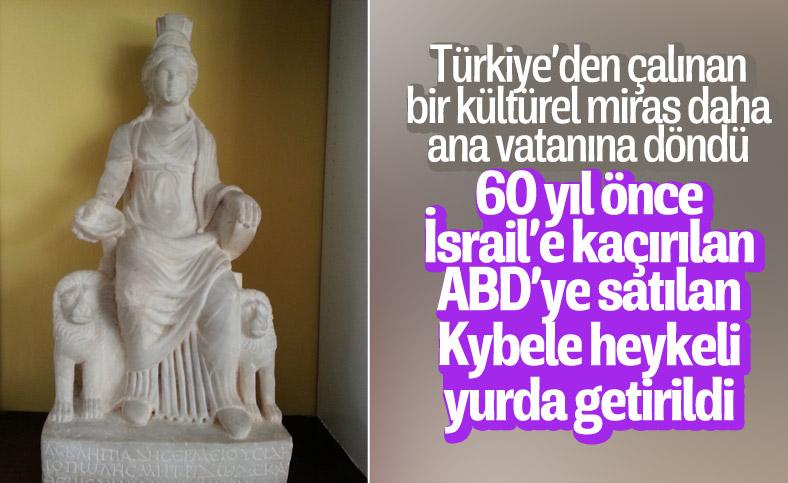 Bin 700 yıllık Kybele heykeli 60 yıl sonra Türkiye'ye getirildi